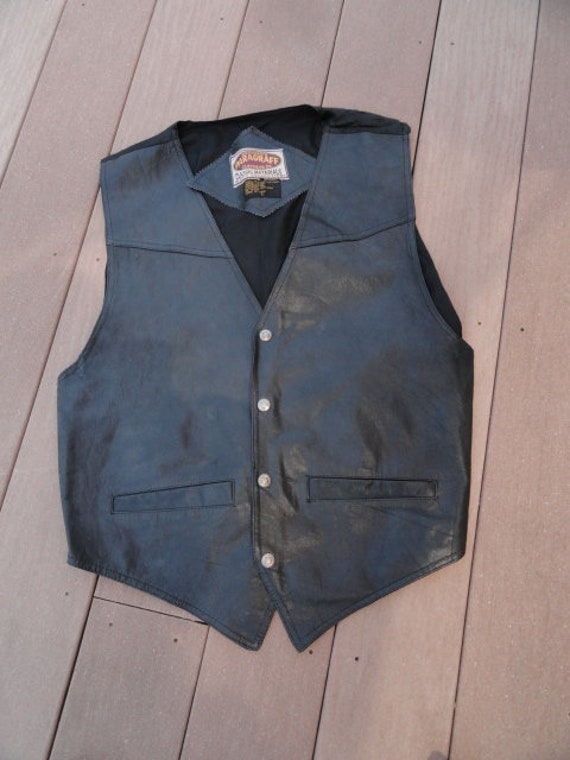 Men's Vest Exclusive PARAGRAFF CLOTHING CO. Black