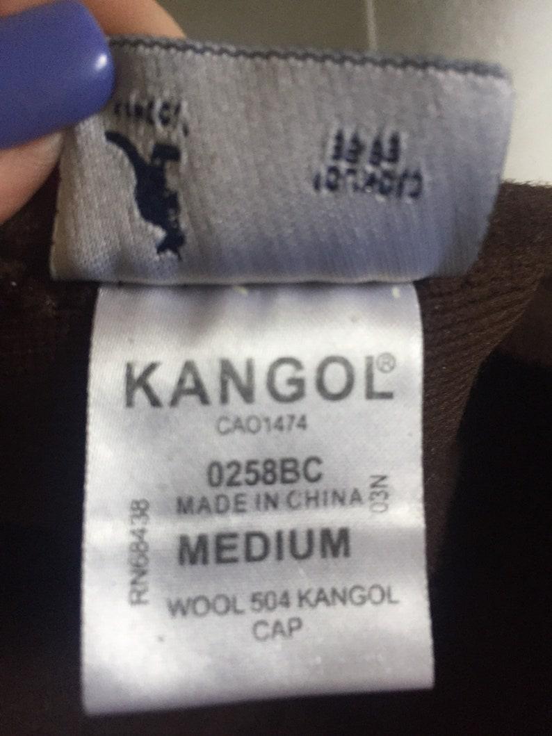 Vintage 504 KANGOL CAP Newsboy Hat Design Made In China Wool Medium Brown