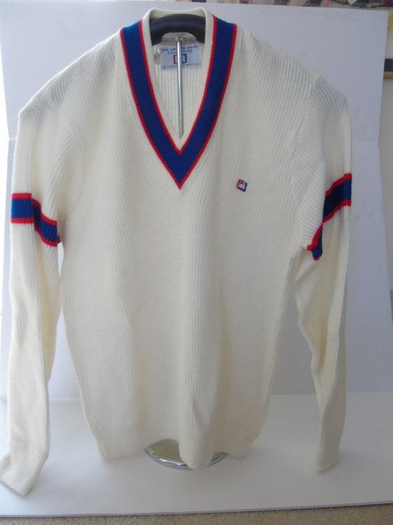 Vintage Men's Designer Sweater Arthur Ashe Collect