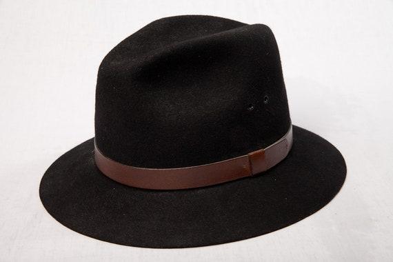 Vintage 1970's Men's Fedora Hat MICROFELT QUALITY