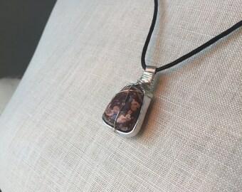 Brecciated Jasper Pendant Necklace
