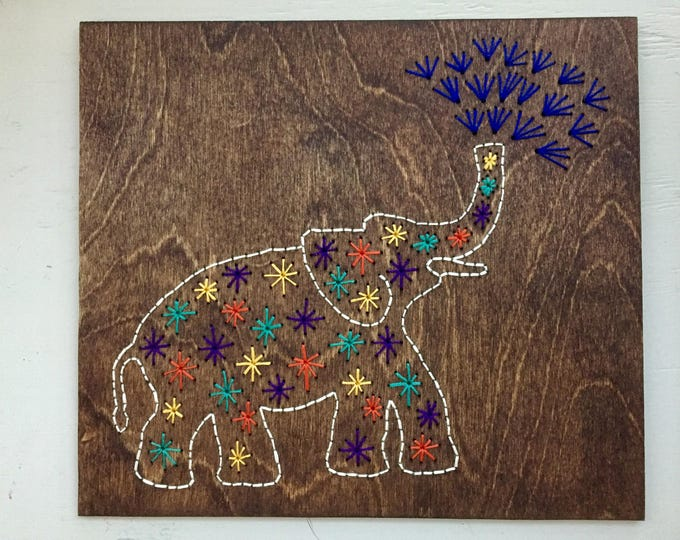 Colorful Elephant wall hanging