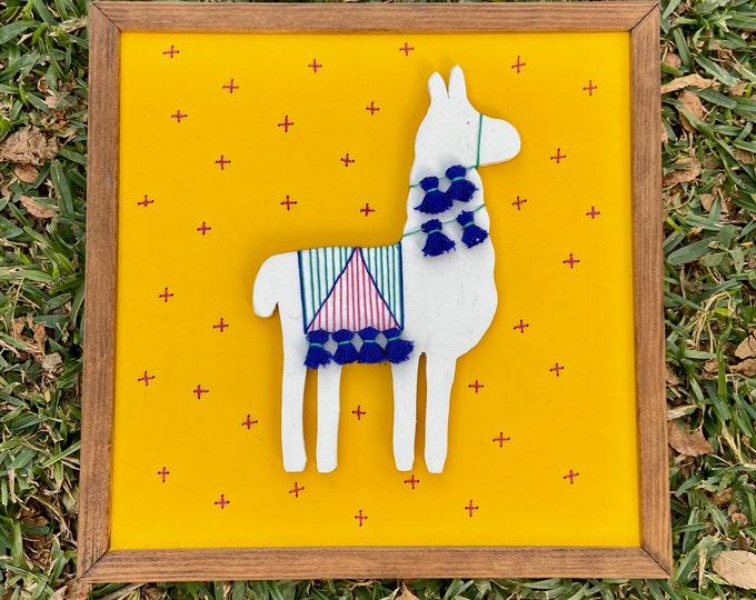 Yellow Llama Wall Art