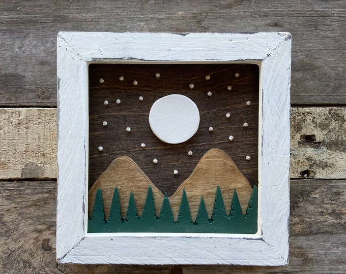Mini Mountain Moonrise 2