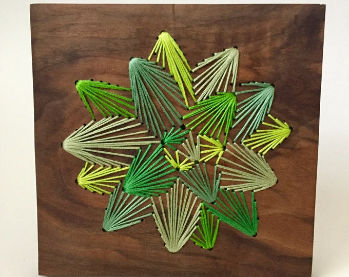 Electric Green Succulent Wall hanging
