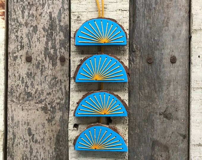 Blue Sun Wood Wall Art