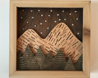 Mountains at Night Wall Hanging - medium