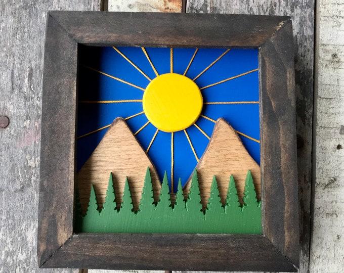 mini Mountain Sunrise