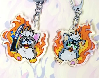 Double Sided 2 in Kitty Emiliaaa Keychains