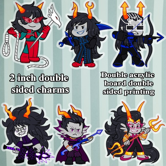 Highbloods 2 inch double sided charms Homestuck