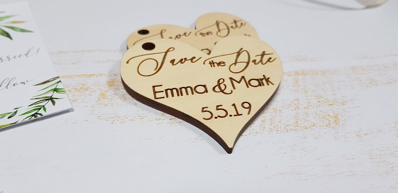 Save the Date magnets Wood Save the Date Magnet  Rustic Save the Date Custom Save the Dates Heart save the date with Cards and Envelopes