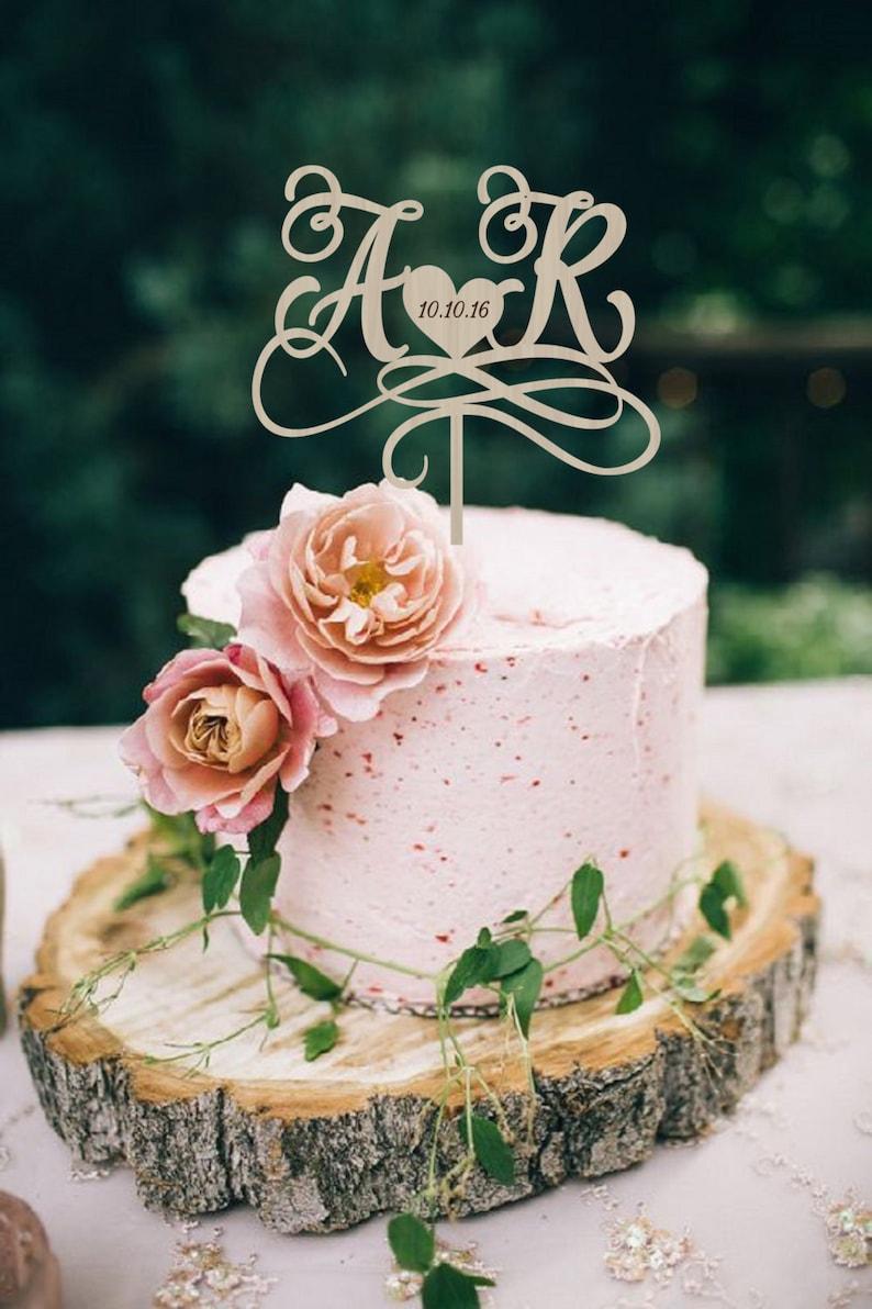 Wedding Cake Topper.Wedding Cake Topper Initials Cake Topper Personalized Wedding Cake Topper Wood Cake Topper Monogram Cake Topper Custom Cake Topper
