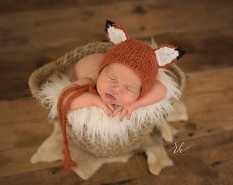 0d12fdf9134 Knit fox hat