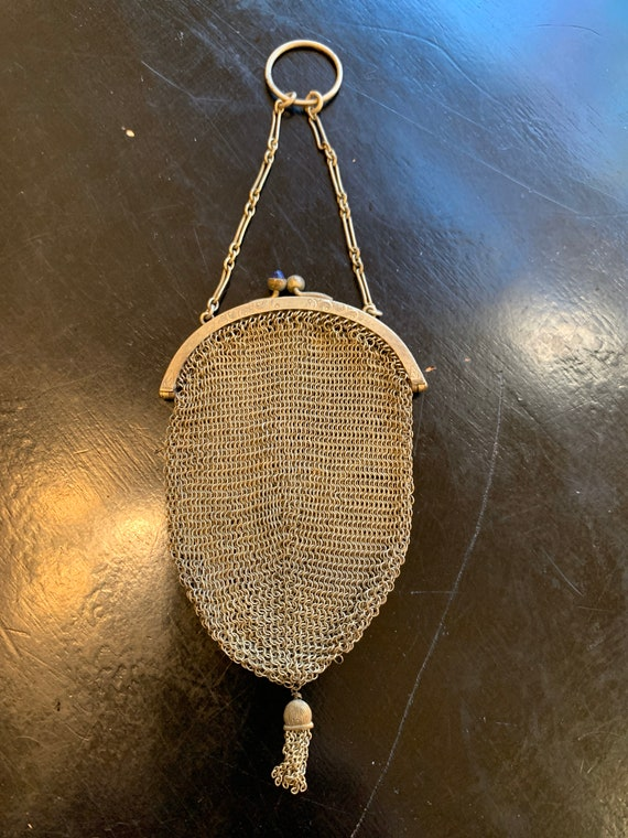 Antique FInger Chain Mesh Purse