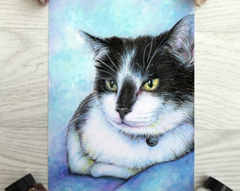 CUSTOM Animal Art, Portrait, Pet Portrait, Watercolour, Watercolor, Ink, Pet Art, Original Painting
