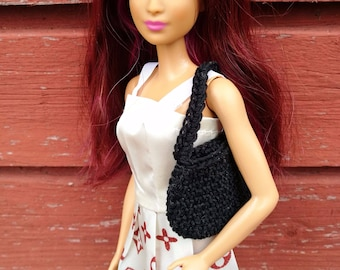 Black Barbie doll handbag / purse / bag