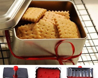 Classical Shape Cookie Plunger Cutter/Stainless Steel Spring Press/Fondant Cutter