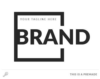 Brand Minimalist Logo - Premade Logo / Blogger Header Design / Premade Blog Header / Black logo / Minimal logo / Branding