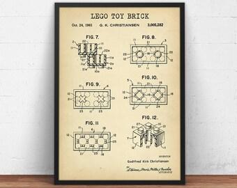Lego blueprint art download lego minifigure print lego lego toy brick patent printable lego poster lego toys building brick print nursery decor kids room wall art blueprint digital download malvernweather Image collections