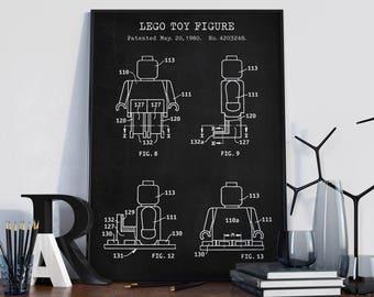 Lego blueprint art download lego minifigure print lego lego blueprint art patent printable lego poster lego toy figure lego toys kids room wall art nursery decor digital download retro art malvernweather Images