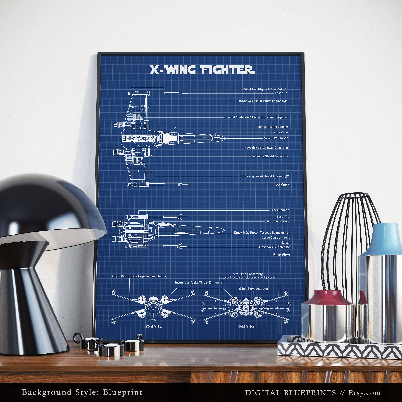 X wing fighter schematic diagram digital download blueprint ampliar malvernweather Gallery