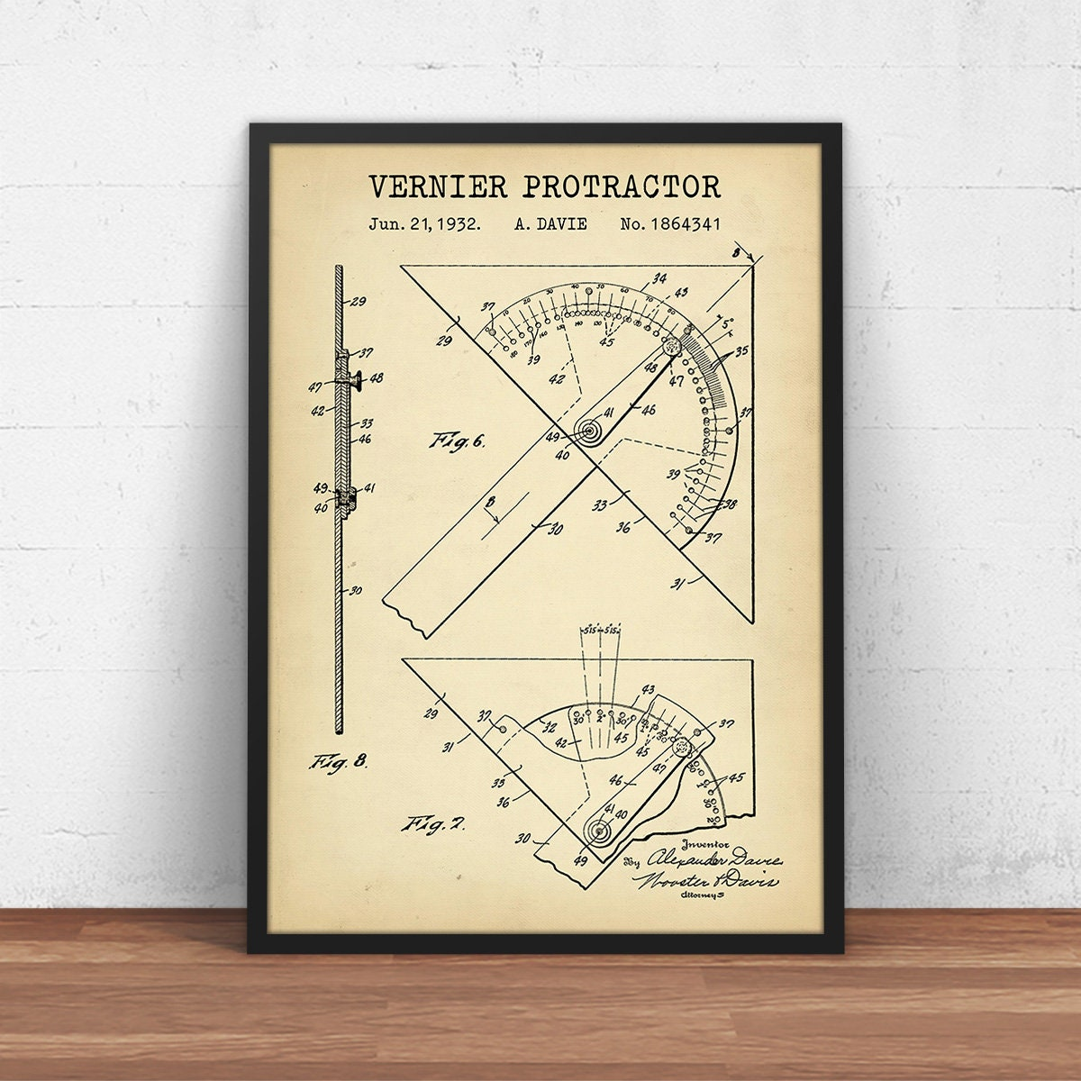 Vernier Protractor Patent Print, Technical drawing tool, Architect Gifts,  Drafting Tools, Office Decor, Gift For Engineer, Geometry Wall Art