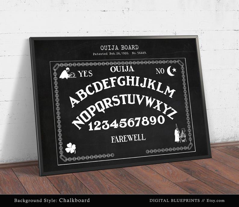 Ouija Board Poster Printable, Digital Download, Ouija Board Patent Print,  Spirit Talking Board, Spiritualists Gift, Psychic, Amusement Board