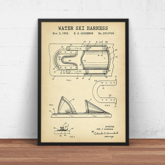 il_570xN.1345216588_3ius water ski harness blueprint art patent prints digital etsy