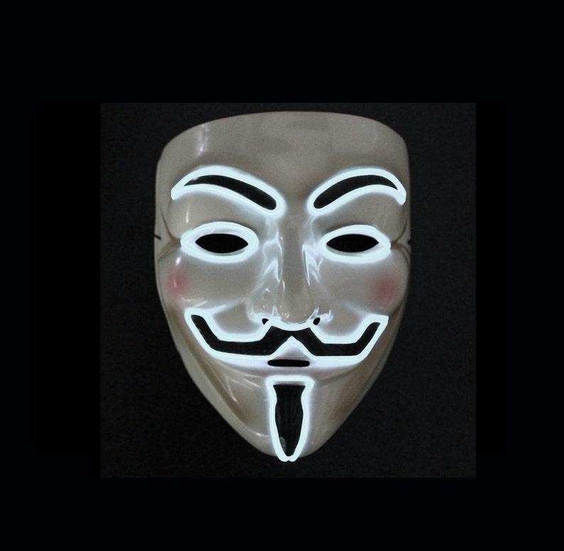 V For Vendetta LED Lighted Mask - 8 Colors