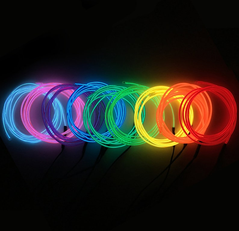 Neon EL Wire 9FT 8 Colors image 0