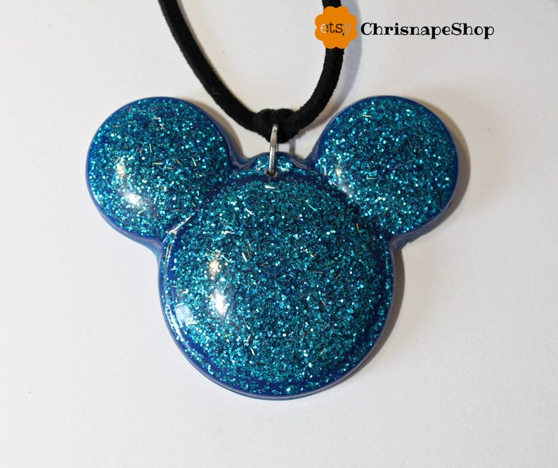 Resin necklace /'Mouse/' 4 COLORS