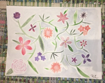 9x12 Watercolor Flowers