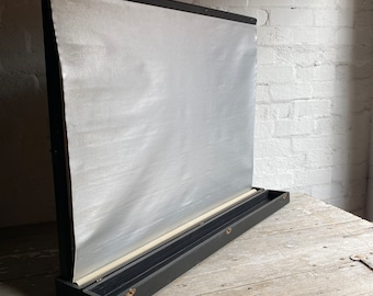 Portable Table Top Movie Screen Built into a Timber Case