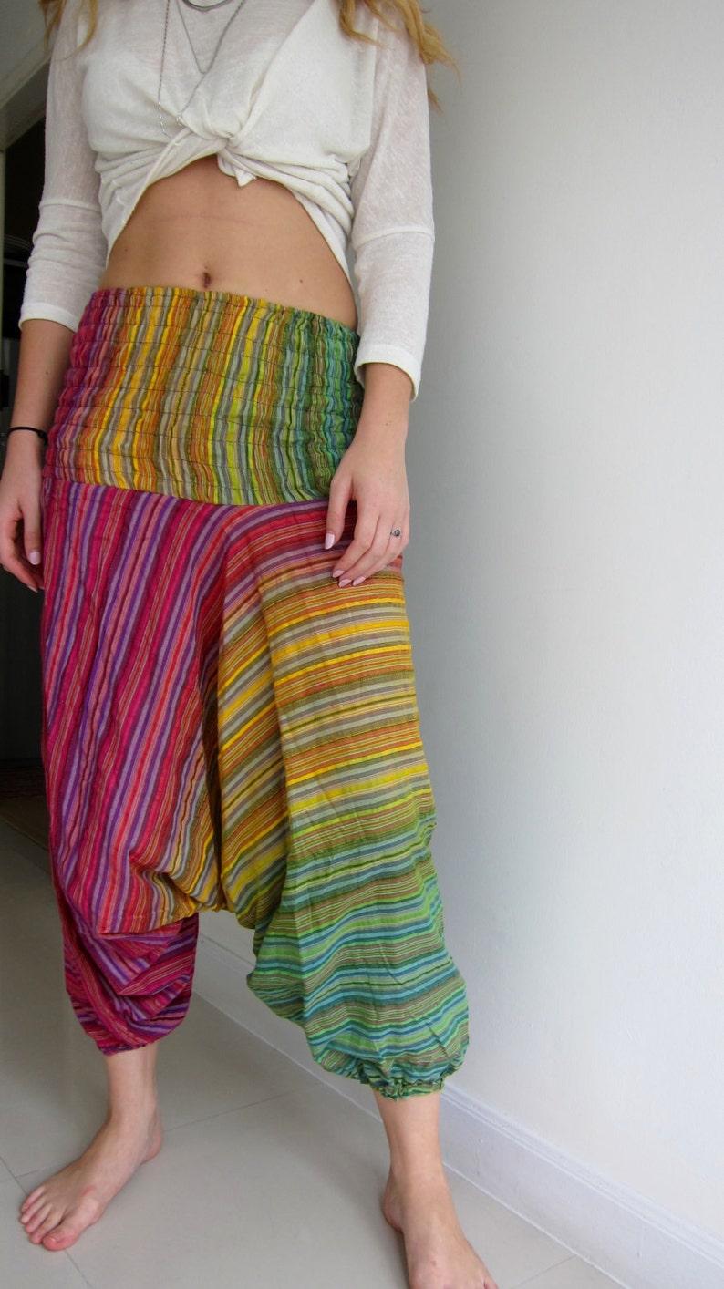 ebf87e85fae Original Girls Harem Pants Tutorial Template Digital Download Pattern Wide  Leg Low Crotch Yoga Pant