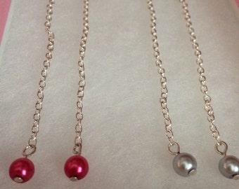 Pearl dangly earrings, long earrings, chain earrings, 8cm long pearl earrings, mothers day gift, gift for mum, earrings, pearl earrings