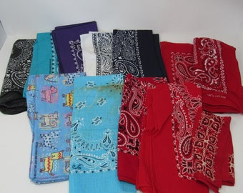 Wholesale Joblot Paisley Bandanas All Colours in One Package