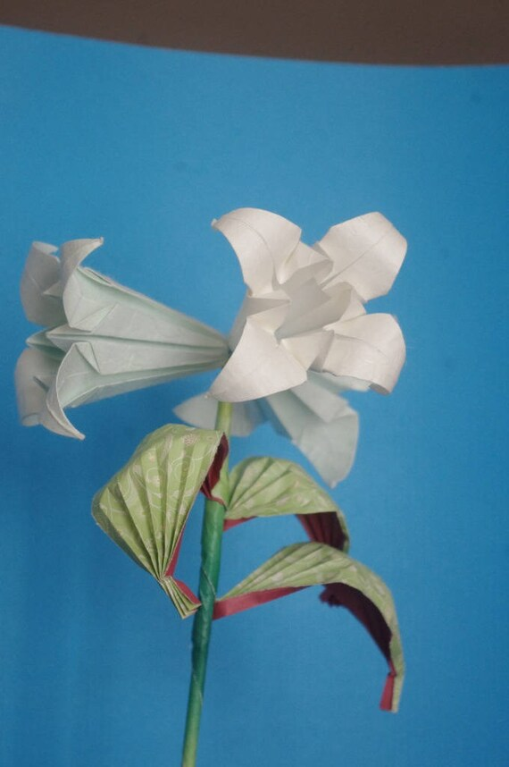Trumpet Lily Stem Real Origami Etsy