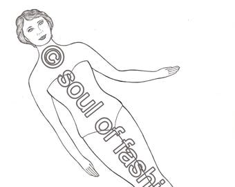 Soul of Fashion Paper Doll