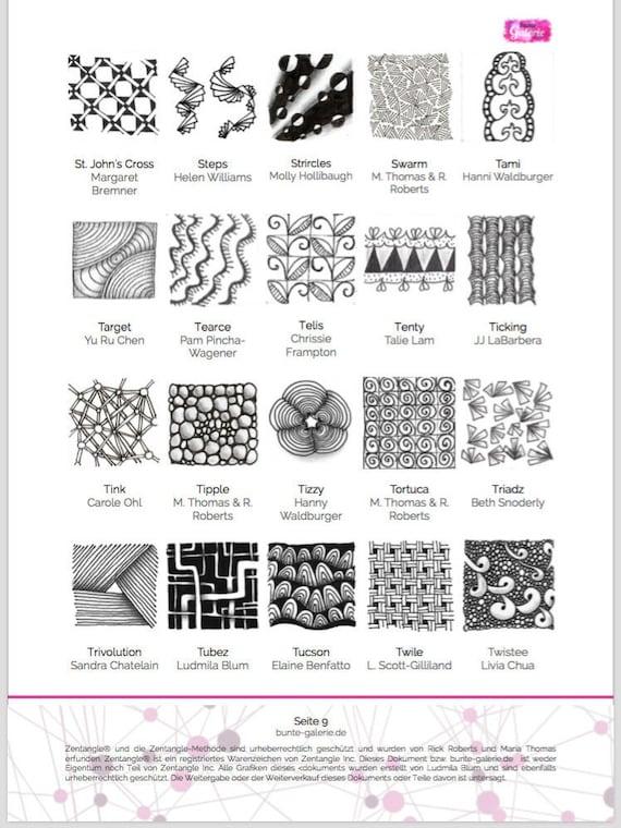 Tangle Pattern Crux Zentangle Patterns Tangle 14
