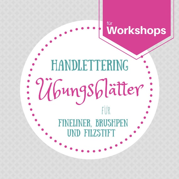 Handlettering übungsblätter Für Workshops Etsy