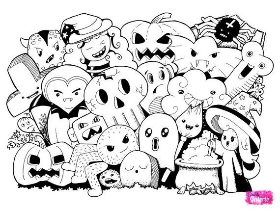 doodle monster ausmalbilder malbuch fur erwachsene etsy doodle monster ausmalbilder malbuch fur erwachsene digitaler sofort download zum ausdrucken und ausmalen kolorieren tangle