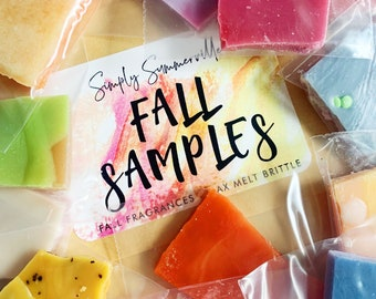 Fall Fragrances - Wax Melt Brittle - Sample Pack  - 12 Sample Scents Included