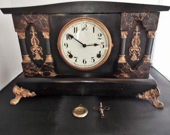 Antique Wm. Gilbert 8 Day Mantel Clock Circa 1900