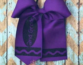 Crayon Cheer bow