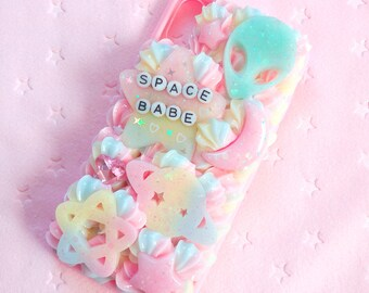 Space babe alien decoden case for iPhone X