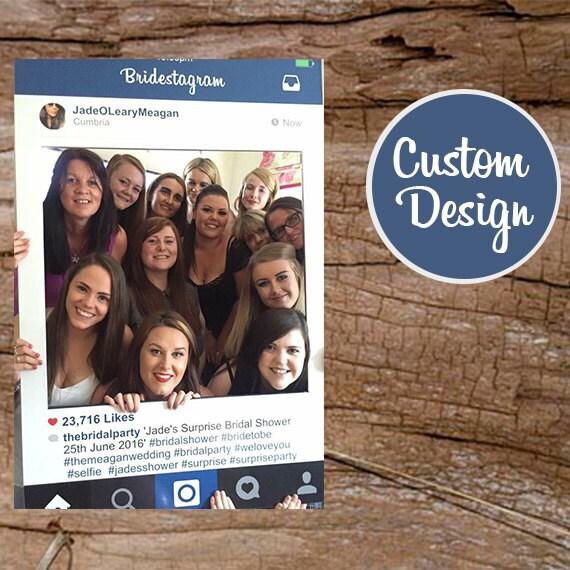 Instagram Frame Photo Booth Props, Large Photo Booth Prop, Instaframe, Social Media, Digital Download, Custom Design, Wedding Props
