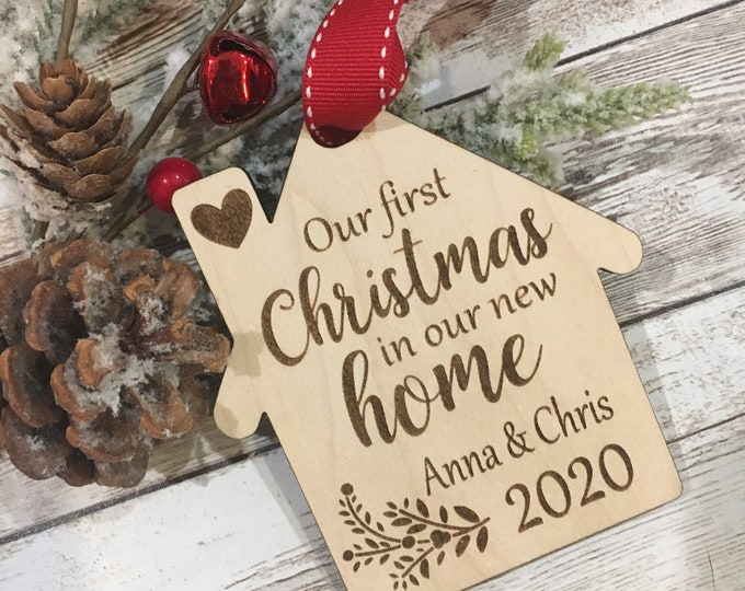 2020 | 2021 Our First Christmas in our new Home Tree Ornament | Christmas New House | 2021 New Home Gift | Realtor Marking Gift