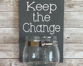 Keep the Change Jar | Color Pop Series | Laundry Room Decor & Organization | New Mom Gift Idea | Laundry Room Humor