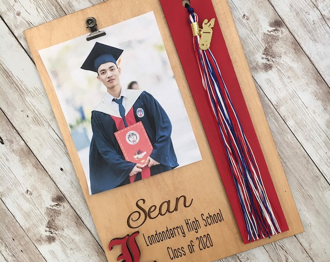 Custom Graduation Tassel + Photo Plaque | Tassel Holder | Senior 2021 Grad Decor | High School Graduation Photo Frame | Class of 2021