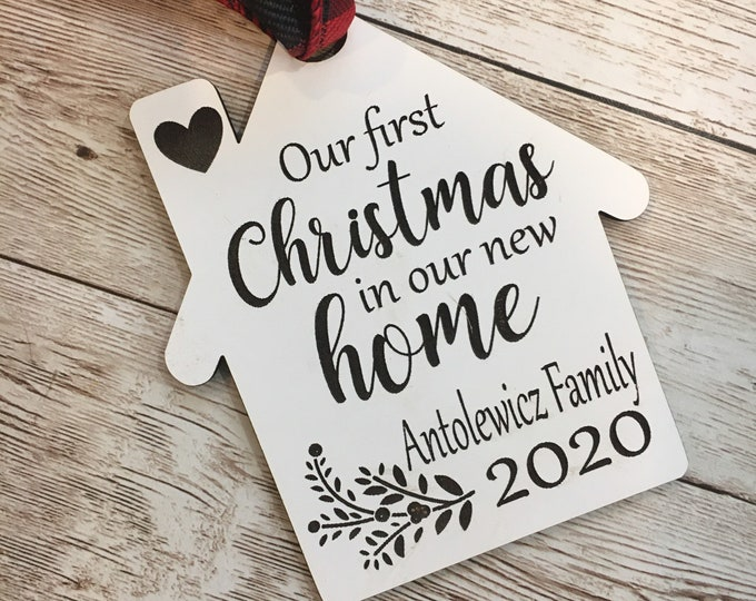 2020 Our First Home Christmas Tree Ornament | Personalized Home Ornament | Christmas House Ornament